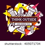 vector illustration of colorful ... | Shutterstock .eps vector #405071734