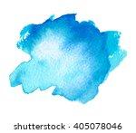 blue sea water watercolor ink... | Shutterstock .eps vector #405078046