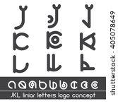 j k l liniar alphabet letters... | Shutterstock .eps vector #405078649