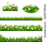 Flowers Borders Big Set With...