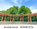 chinese style promenade in the... | Shutterstock . vector #405081376