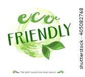 vector eco friendly food logo.... | Shutterstock .eps vector #405082768