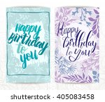 happy birthday cards set.... | Shutterstock .eps vector #405083458