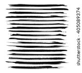 long black ink strokes set... | Shutterstock .eps vector #405089374