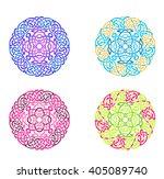mandala in esoteric style. set... | Shutterstock .eps vector #405089740