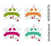 vector birds ribbon text...   Shutterstock .eps vector #405093076