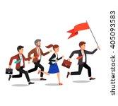 business leader holding big... | Shutterstock .eps vector #405093583