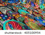souvenirs on the market at...   Shutterstock . vector #405100954