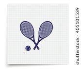 tennis rackets icon. flat... | Shutterstock . vector #405101539