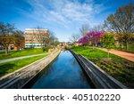 carroll creek  in frederick ... | Shutterstock . vector #405102220