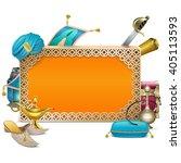 vector arabic frame   Shutterstock .eps vector #405113593