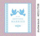 vector wedding card or... | Shutterstock .eps vector #405117538