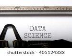 data science  | Shutterstock . vector #405124333