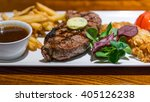 medium rare grilled beef ... | Shutterstock . vector #405126238