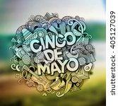 cinco de mayo. cartoon vector... | Shutterstock .eps vector #405127039
