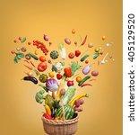healthy eating background.... | Shutterstock . vector #405129520