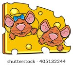 Two Brown Muzzle Mice Peep...