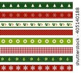 Set Of Christmas Ribbon Patterns