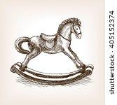Vintage Rocking Horse Toy...