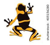 poison frog  flat design.... | Shutterstock .eps vector #405156280
