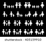 gay and lesbian family vector... | Shutterstock .eps vector #405159910