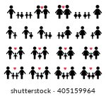 gay and lesbian family vector... | Shutterstock .eps vector #405159964