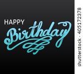 happy birthday card. handdrawn  ... | Shutterstock . vector #405172378