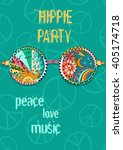 Hippie Party Poster. Hippy...