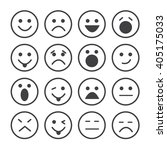 vector icons of smiley faces | Shutterstock .eps vector #405175033