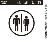 male and female restroom symbol ... | Shutterstock .eps vector #405179548