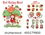 little red riding hood  ... | Shutterstock .eps vector #405179800