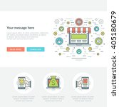 flat line business concept web... | Shutterstock .eps vector #405180679