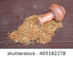 tubing tabacco with pottery... | Shutterstock . vector #405182278