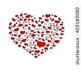 hand drawn heart filled with... | Shutterstock .eps vector #405185080