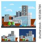 shopping mall building... | Shutterstock .eps vector #405186784