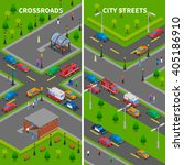 street traffic isometric... | Shutterstock .eps vector #405186910