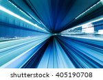 motion of city in tunnel from... | Shutterstock . vector #405190708