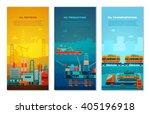 petroleum industry vertical... | Shutterstock .eps vector #405196918