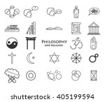 set of philosophy and religion... | Shutterstock .eps vector #405199594
