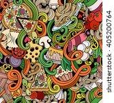 cartoon hand drawn doodles... | Shutterstock .eps vector #405200764