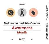 vector illustration   melanoma... | Shutterstock .eps vector #405201394