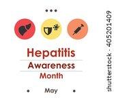 vector illustration   hepatitis ...   Shutterstock .eps vector #405201409