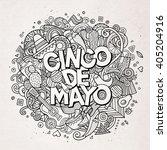 cinco de mayo. cartoon vector... | Shutterstock .eps vector #405204916