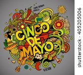 cinco de mayo. cartoon vector... | Shutterstock .eps vector #405205006
