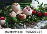 preparation of bath bombs.... | Shutterstock . vector #405208384
