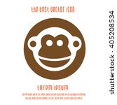 monkey vector icon. chinese... | Shutterstock .eps vector #405208534
