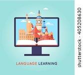 on line training courses.... | Shutterstock .eps vector #405208630