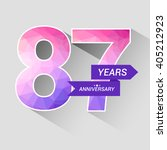 87 years anniversary with low... | Shutterstock .eps vector #405212923