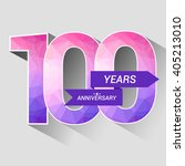 100 years anniversary with low... | Shutterstock .eps vector #405213010