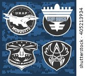 air force military emblem set... | Shutterstock .eps vector #405213934
